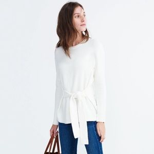 Madewell Front-Tie Wrap Sweater